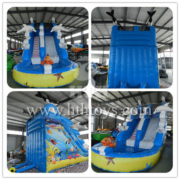 Dolphin inflatable pool slide_Inflatable slide,inflatable bouncer